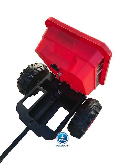 TRACTOR PEKETRAC 4100 12V 2.4G ROJO 9